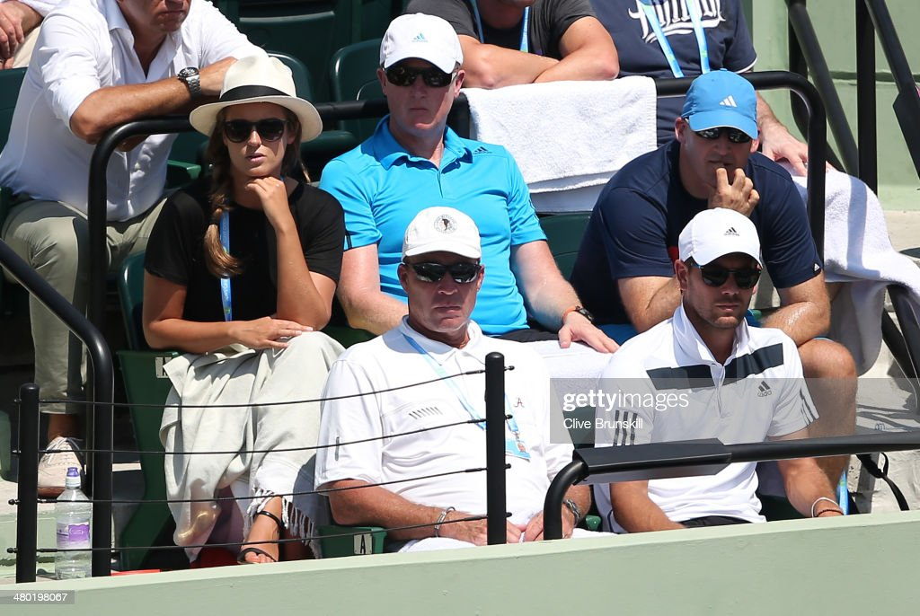 Ivan Lendl (Andy Murrays ex coach) watches from the players box as Andy Murray of Great Britain plays against Feliciano Lopez of Spain during their third round match during day 7 at the Sony Open at Crandon Park Tennis Center on March 23, 2014 in Key Biscayne, Florida.