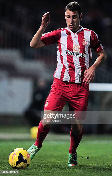 Ivan Lopez of Girona FC in action during the Spanish Segunda Division match between Girona FC and SD Eibar at the Estadia Montilivi on January 25...
