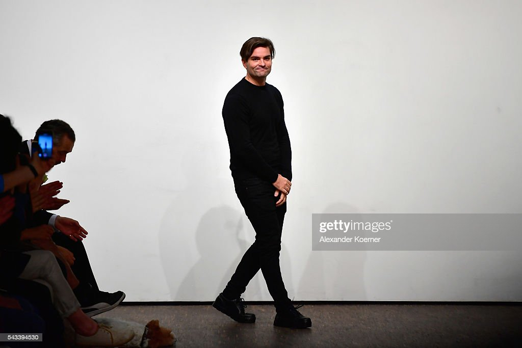 Ivan Mandzukic poses at the Ivanman show during the Mercedes-Benz Fashion Week Berlin Spring/Summer 2017 at Stage at me Collectors Room on June 28, 2016 in Berlin, Germany.