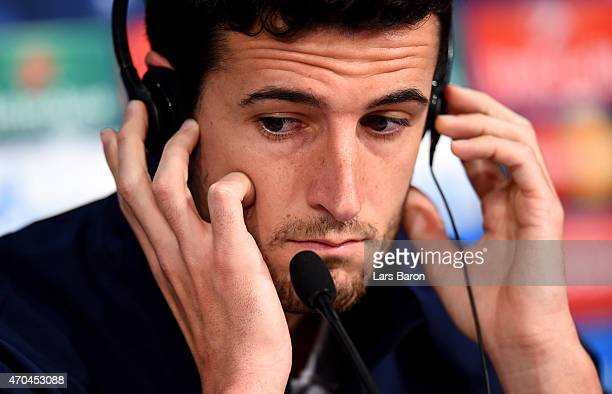 Ivan Marcano looks on during a press conference prior to their UEFA Champions League Quarter Final second leg match at Allianz Arena on April 20 2015...