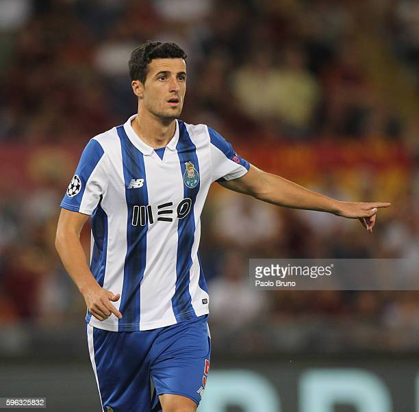 Ivan Marcano of FC Porto in action during the UEFA Champions League qualifying playoff round second leg match between AS Roma and FC Porto at Stadio...