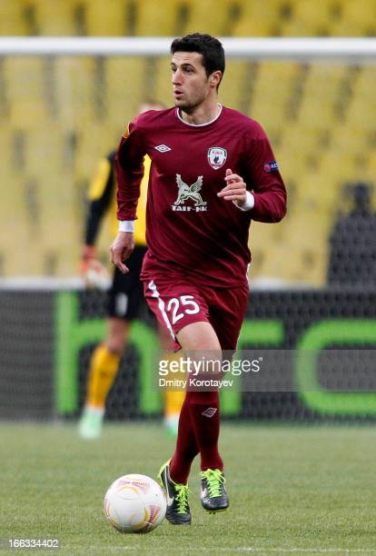 Ivan Marcano of FC Rubin Kazan in action during the UEFA Europa League quarter final second leg match between FC Rubin Kazan and Chelsea FC at the...