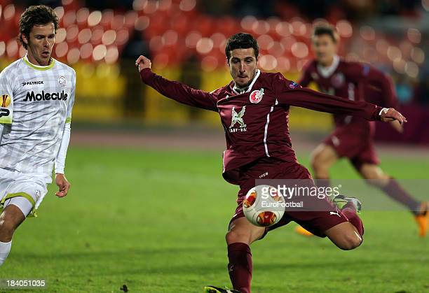 Ivan Marcano of FC Rubin Kazan in action during the UEFA Europa League group stage match between FC Rubin Kazan and SV Zulte Waregem held on October...