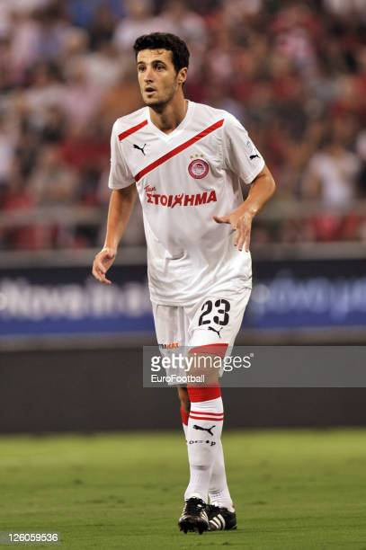 Ivan Marcano of Olympiacos FC in action during the Greek Super League match between Olympiacos FC and Xanthi FC at the Karaiskakis Stadium on...