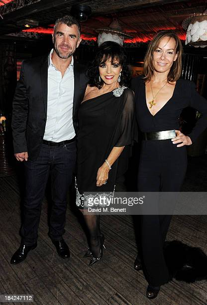 Ivan Massow Joan Collins and Tara Palmer Tomkinson attend a private dinner hosted by Joan Collins at Mahiki on October 12 2013 in London England