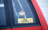 Ivan Milat's car with a crime stoppers sticker