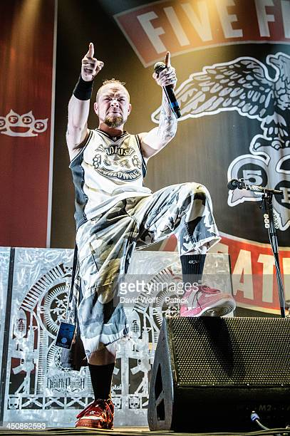 Ivan Moody from Five Finger Death Punch opens for Avenged Sevenfold at Le Zenith on November 20 2013 in Paris France