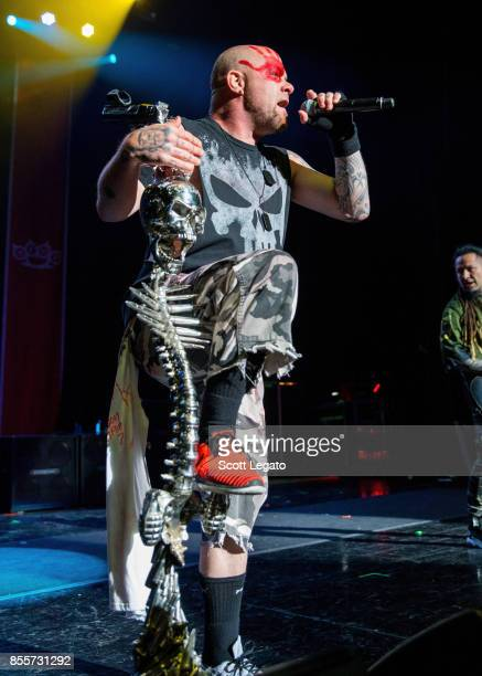 Ivan Moody of Five Finger Death Punch performs during Riff Fest at DTE Energy Music Theater on September 29 2017 in Clarkston Michigan