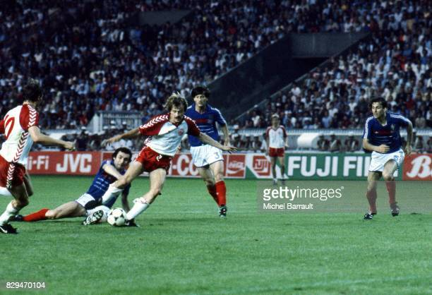 Ivan Nielsen of Denmark during the European Championship match between France and Denmark at Parc des Princes Paris France on 12th June 1984