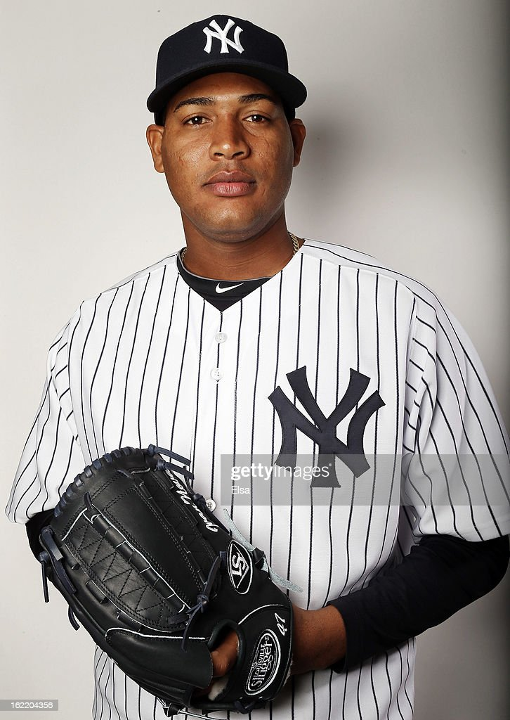 Ivan Nova #47 of the New York Yankees poses for a portrait on February 20, 2013 at George Steinbrenner Stadium in Tampa, Florida.