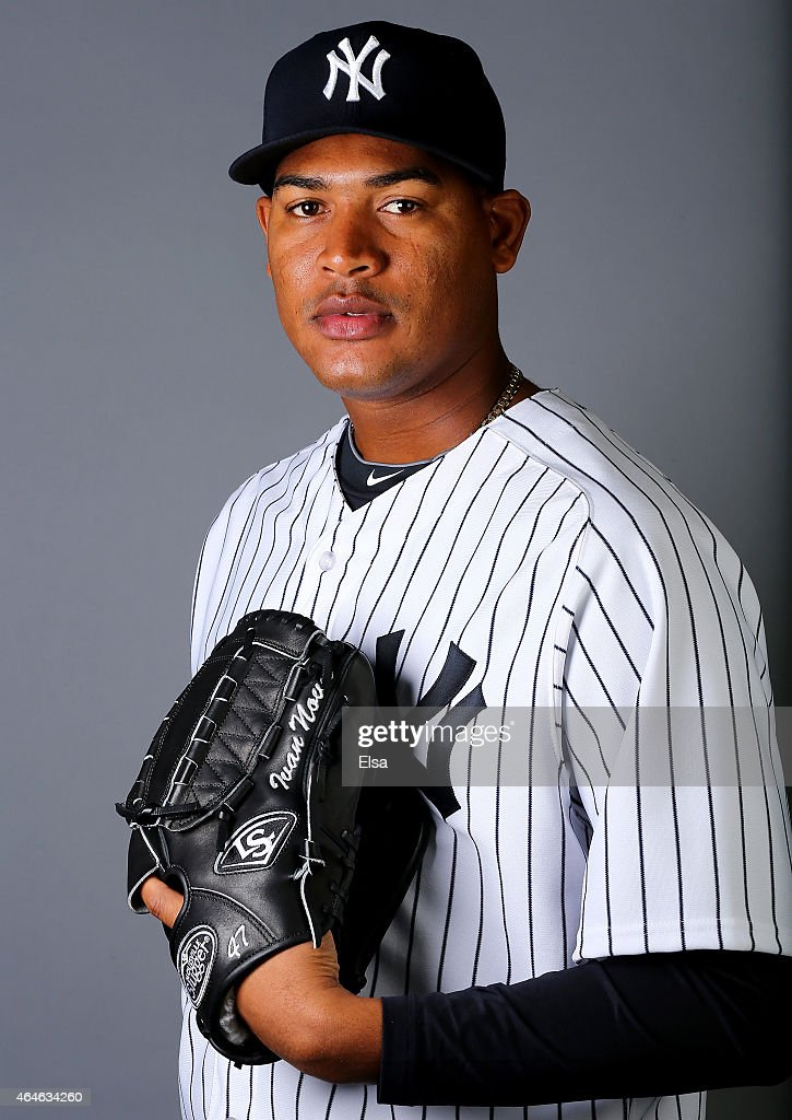 <a gi-track='captionPersonalityLinkClicked' href=/galleries/search?phrase=Ivan+Nova&family=editorial&specificpeople=5743486 ng-click='$event.stopPropagation()'>Ivan Nova</a> #47 of the New York Yankees poses for a portrait on February 27, 2015 at George M. Steinbrenner Stadium in Tampa,Florida.
