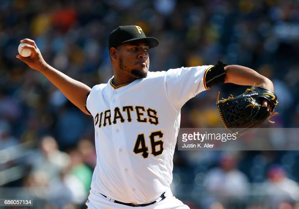 Ivan Nova of the Pittsburgh Pirates pitches against the Philadelphia Phillies at PNC Park on May 20 2017 in Pittsburgh Pennsylvania