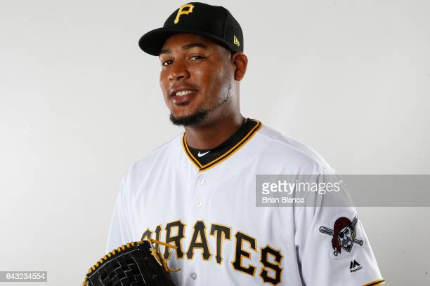 Ivan Nova of the Pittsburgh Pirates poses for a photograph during MLB spring training photo day on February 19 2017 at Pirate City in Bradenton...