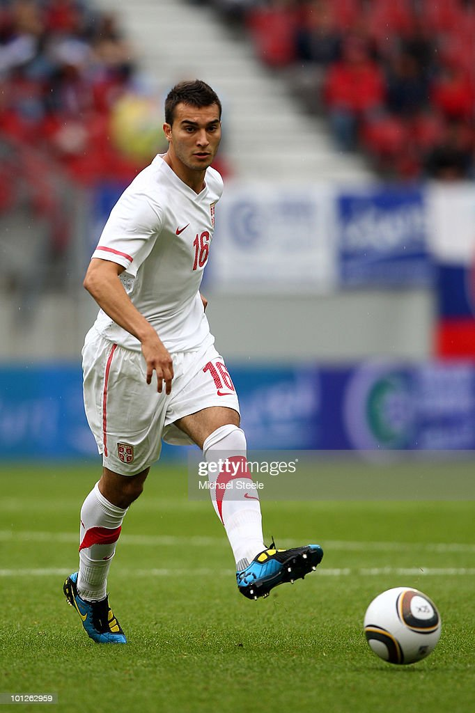 Ivan Obradovic of Serbia during the New Zealand v Serbia International Friendly match at the Hypo Group Arena on May 29, 2010 in Klagenfurt, Austria.