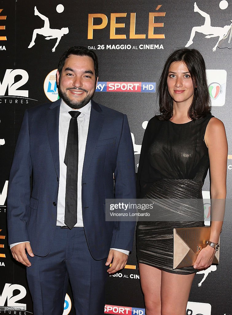 Ivan Orlic and guest attend the 'Pele' Red Carpet In Milan on May 26, 2016 in Milan, Italy.