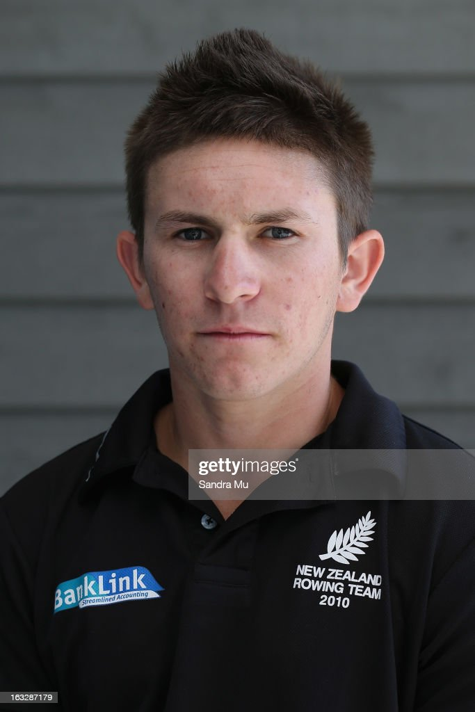 Ivan Pavich poses before the New Zealand rowing squad announcement for 2013, at Lake Karapiro on March 7, 2013 in Cambridge, New Zealand.