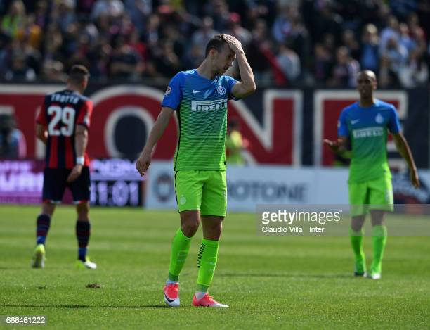 Ivan Perisic of FC Internazionale dejected during the Serie A match between FC Crotone and FC Internazionale at Stadio Comunale Ezio Scida on April 9...
