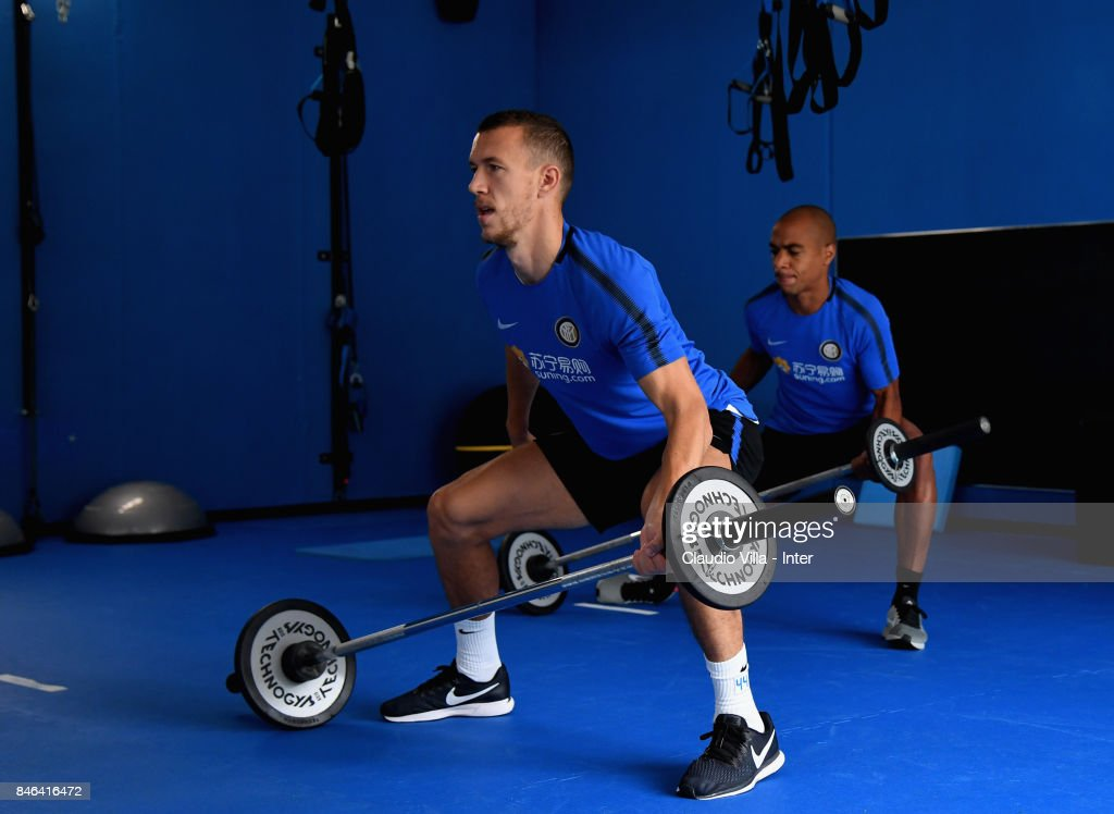 Ivan Perisic of FC Internazionale in action during a training session at Suning Training Center at Appiano Gentile on September 13, 2017 in Como, Italy.