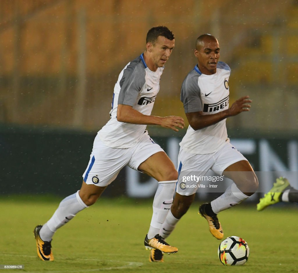 Ivan Perisic of FC Internazionale in action during the Pre-Season Friendly match between FC Internazionale and Real Betis at Stadio Via del Mare on August 12, 2017 in Lecce, Italy.