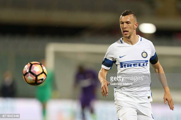 Ivan Perisic of FC Internazionale in action during the Serie A match between ACF Fiorentina v FC Internazionale at Stadio Artemio Franchi on April 22...