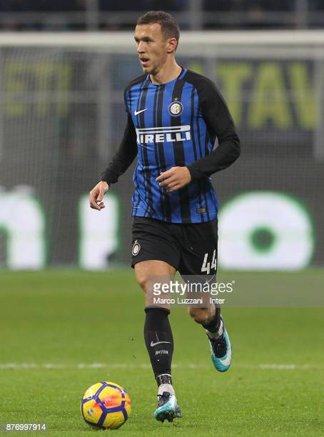 Ivan Perisic of FC Internazionale in action during the Serie A match between FC Internazionale and Atalanta BC at Stadio Giuseppe Meazza on November...