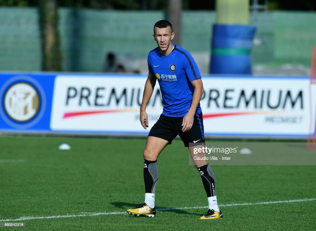 Ivan Perisic of FC Internazionale looks on during the training session at Suning Training Center at Appiano Gentile on October 12, 2017 in Como, Italy.