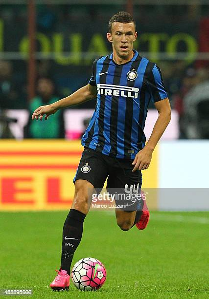 Ivan Perisic of FC Internazionale Milano in action during the Serie A match between FC Internazionale Milano and AC Milan at Stadio Giuseppe Meazza...