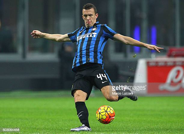 Ivan Perisic of FC Internazionale Milano in action during the Serie A match between FC Internazionale Milano and SS Lazio at Stadio Giuseppe Meazza...