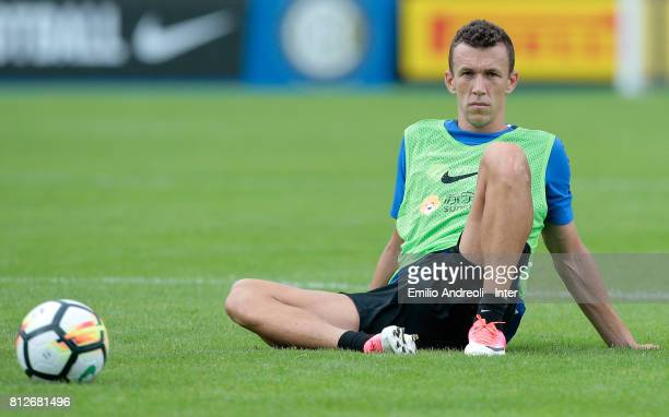 Ivan Perisic of FC Internazionale Milano looks on during the FC Internazionale training session on July 11 2017 in Reischach near Bruneck Italy