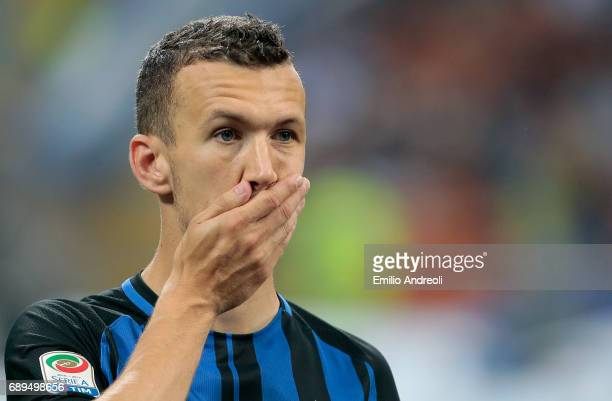 Ivan Perisic of FC Internazionale Milano looks on during the Serie A match between FC Internazionale and Udinese Calcio at Stadio Giuseppe Meazza on...