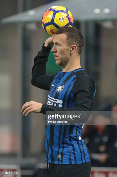 Ivan Perisic of FC Internazionale Milano looks on during the Serie A match between FC Internazionale and Atalanta BC at Stadio Giuseppe Meazza on...