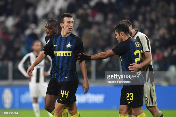 Ivan Perisic of FC Internazionale walks off after being shown a red card during the Serie A match between Juventus FC and FC Internazionale at...