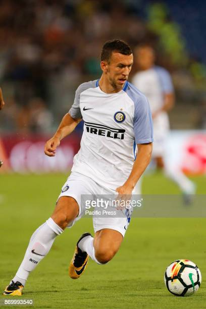 Ivan Perisic of Inter during the Italian Serie A soccer match against Roma in Rome Inter defeating Roma 31
