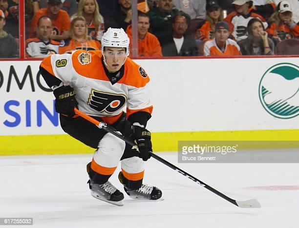 Ivan Provorov of the Philadelphia Flyers skates against the Anaheim Ducks at the Wells Fargo Center on October 20 2016 in Philadelphia Pennsylvania