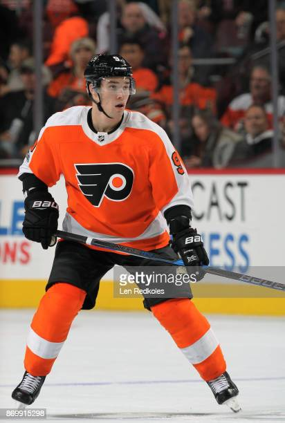Ivan Provorov of the Philadelphia Flyers skates against the Arizona Coyotes on October 30 2017 at the Wells Fargo Center in Philadelphia Pennsylvania