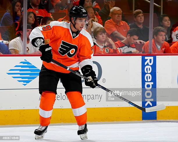 Ivan Provorov of the Philadelphia Flyers skates against the New York Rangers on April 7 2015 at the Wells Fargo Center in Philadelphia Pennsylvania