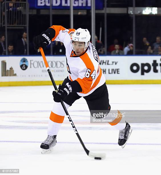 Ivan Provorov of the Philadelphia Flyers skates against the New York Rangers at Madison Square Garden on October 6 2016 in New York City The Flyers...