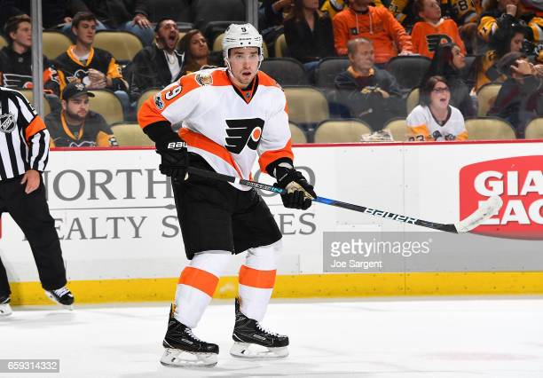 Ivan Provorov of the Philadelphia Flyers skates against the Pittsburgh Penguins at PPG Paints Arena on March 26 2017 in Pittsburgh Pennsylvania