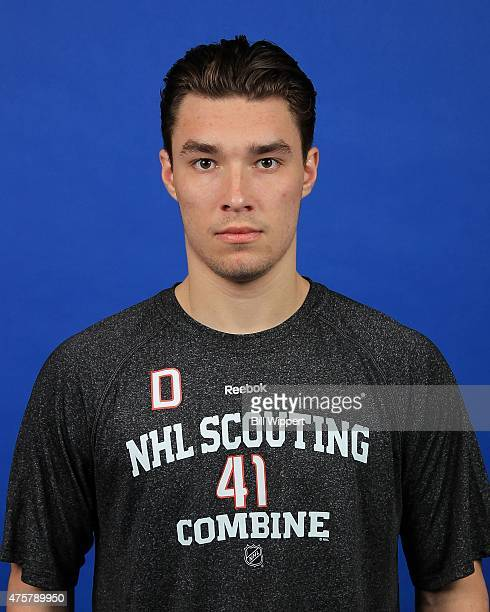 Ivan Provorov poses for a headshot at the NHL Combine at HarborCenter on June 3 2015 in Buffalo New York