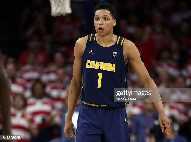 Ivan Rabb of the California Golden Bears during the first half of the college basketball game against the Arizona Wildcats at McKale Center on...