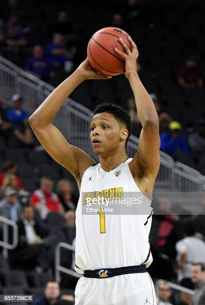 Ivan Rabb of the California Golden Bears looks to pass against the Oregon State Beavers during a firstround game of the Pac12 Basketball Tournament...