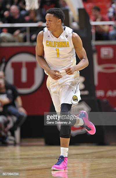 Ivan Rabb of the California Golden Bears runs up court against the Utah Utes at the Jon M Huntsman Center on January 27 2016 in Salt Lake City Utah