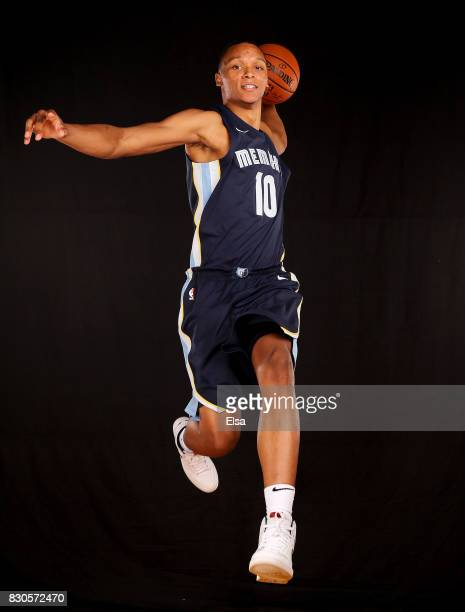 Ivan Rabb of the Memphis Grizzlies poses for a portrait during the 2017 NBA Rookie Photo Shoot at MSG Training Center on August 11 2017 in Greenburgh...