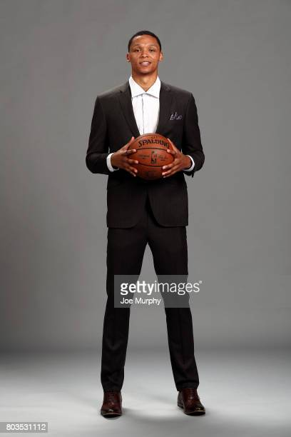 Ivan Rabb of the Memphis Grizzlies poses for a portrait June 28 2017 at FedExForum in Memphis Tennessee NOTE TO USER User expressly acknowledges and...