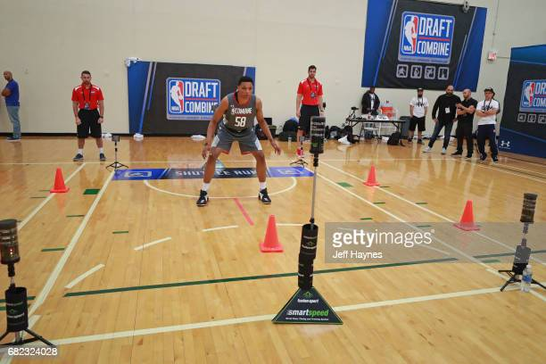 Ivan Rabb participates in the shuttle run during the NBA Draft Combine at the Quest Multisport Center on May 11 2017 in Chicago Illinois NOTE TO USER...