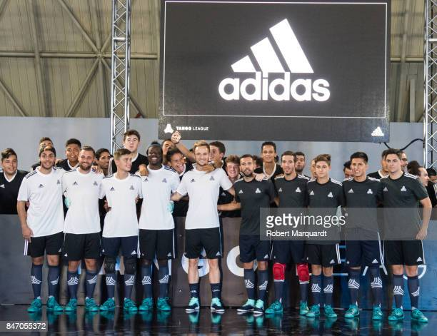 Ivan Rakitic and Jordi Alba attend an Adidas presentation held at the Italian Pavilion on September 14 2017 in Barcelona Spain