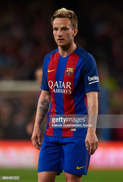 Ivan Rakitic of Barcelona looks on during the La Liga match between FC Barcelona and Valencia CF at Camp Nou Stadium on March 19 2017 in Barcelona...