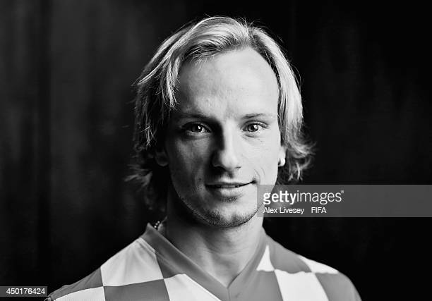 Ivan Rakitic of Croatia poses during the official FIFA World Cup 2014 portrait session on June 5 2014 in Salvador Brazil