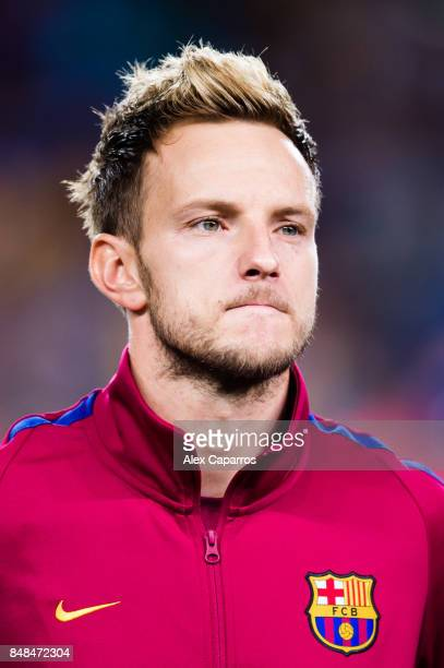 Ivan Rakitic of FC Barcelona looks on before the UEFA Champions League group D match between FC Barcelona and Juventus at Camp Nou on September 12...