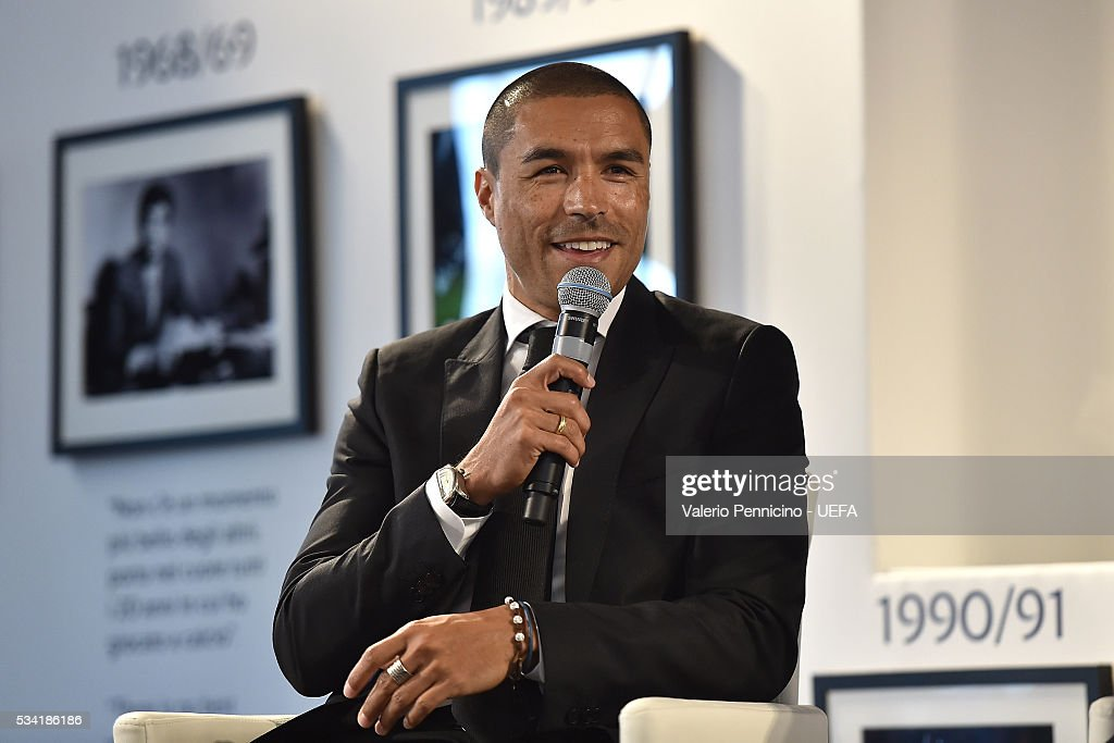 Ivan Ramiro Cordoba speaks to the media during the Festival Gallery prior to the UEFA Champions League Final at Stadio Giuseppe Meazza on May 25, 2016 in Milan, Italy.